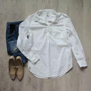 Old Navy Maternity Classic White Popover Shirt Med